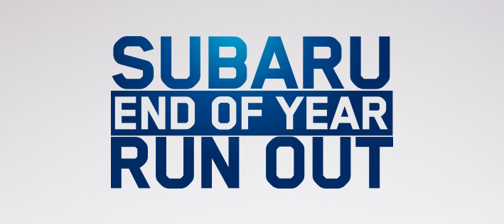 Subaru End Of Year Run Out